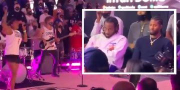 Kawhi Leonard and Paul George Look Bored Af During LA Clippers Groundbreaking Ceremony