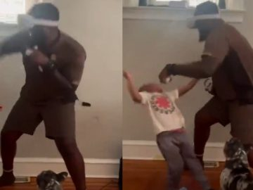 Lil Man Takes a Left to The Chin After Getting To Close During Virtual Reality Game