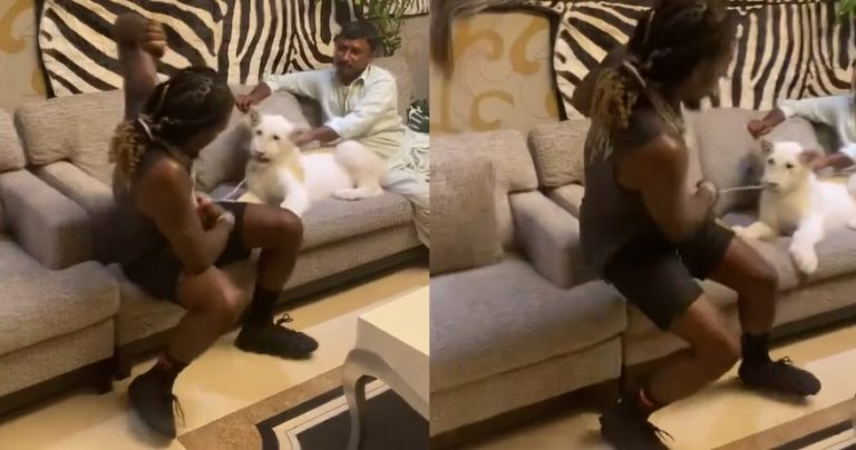 Offset Gets Shook After Almost Getting Attacked By A Pet Lion In Dubai