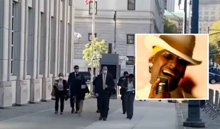 R. Kelly Supporters Play 'Step In The Name of Love' as Prosecutors Enter Courthouse