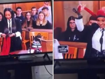 Woman Shows Off Her Bonnet Creation on People's Court and It's a Hit