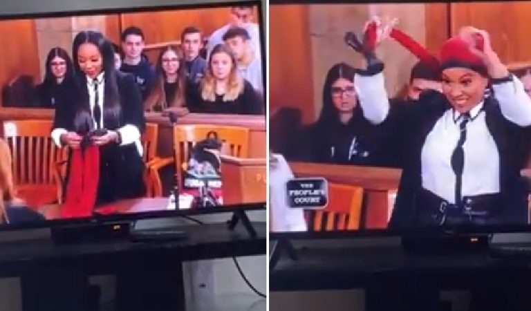 Woman Shows Off Her Bonnett Creation on People's Court and It's a Hit