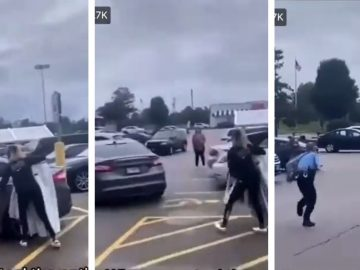 Woman Steals Entire Nike Rack...And Then Her Getaway Driver..Gets Away