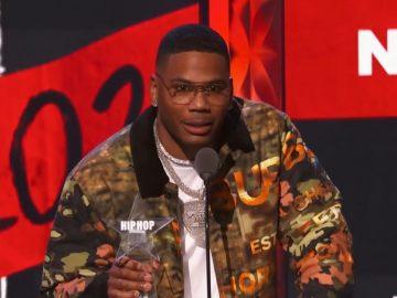 Nelly Receives The 'I Am Hip Hop' Award At 2021 BET Hip Hop Awards