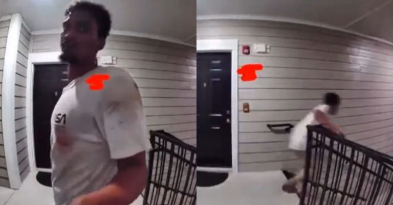 Viral Video Shows 'Fiend' Jump Off of Top Floor After Thinking Ring Doorbell Was a Bomb