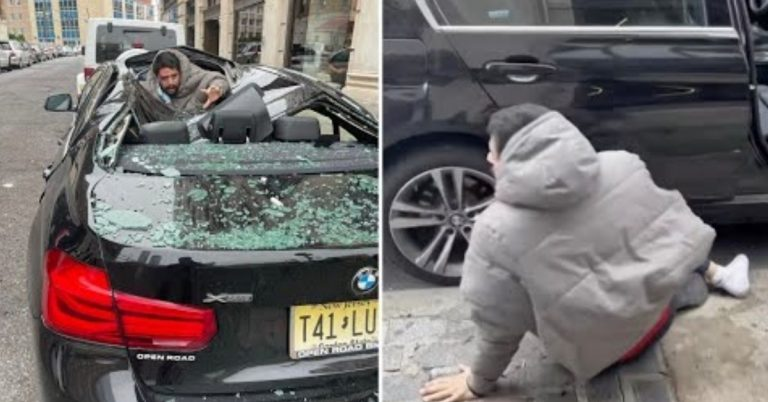 Man Falls 9 Stories From New Jersey High Rise, Lands on BMW and Survives