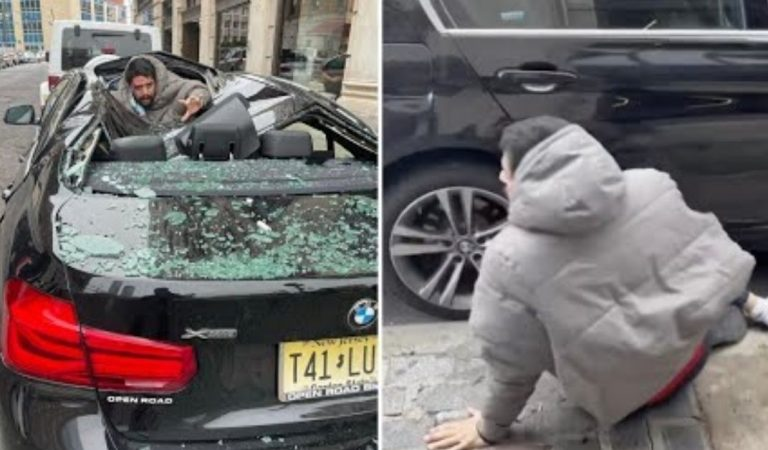 Man Leaps From 9 Story New Jersey High Rise, Lands on BMW and Survives