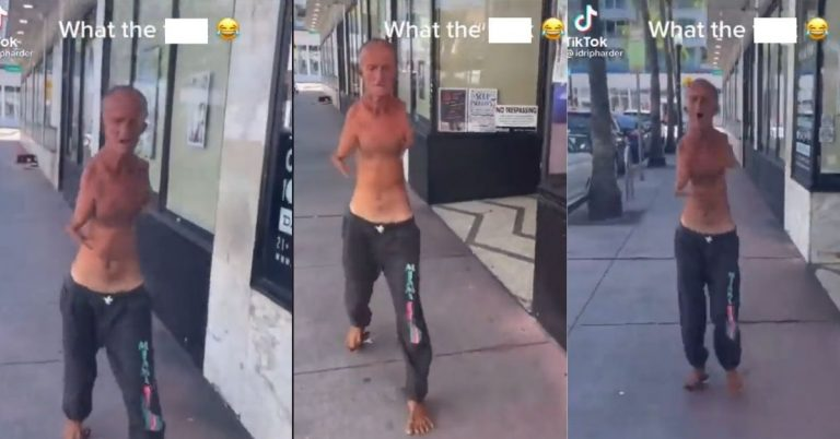 Man With No Hands & Scissors Between His Toes Chases Someone in Florida