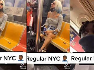 Guy Dressed as a Woman Goes On a Rant About HOT97 During NYC Subway Ride