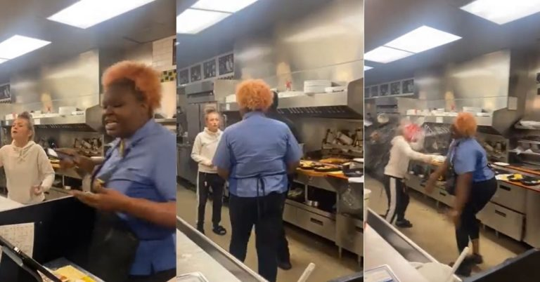 Waffle House Employee's Argument Turns Into a Full Fledge Food Fight