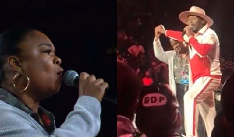 Big Daddy Kane Gives Legendary MC Roxanne Shanté Her Flower During VERZUZ