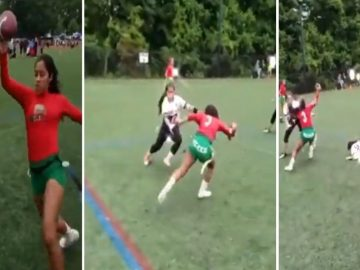 Woman Playing Flag Football Has Some Mean Juke Moves