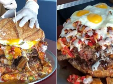 Truffles N Bacon in Las Vegas Goes Viral After Introducing Their 13-Pound Burger