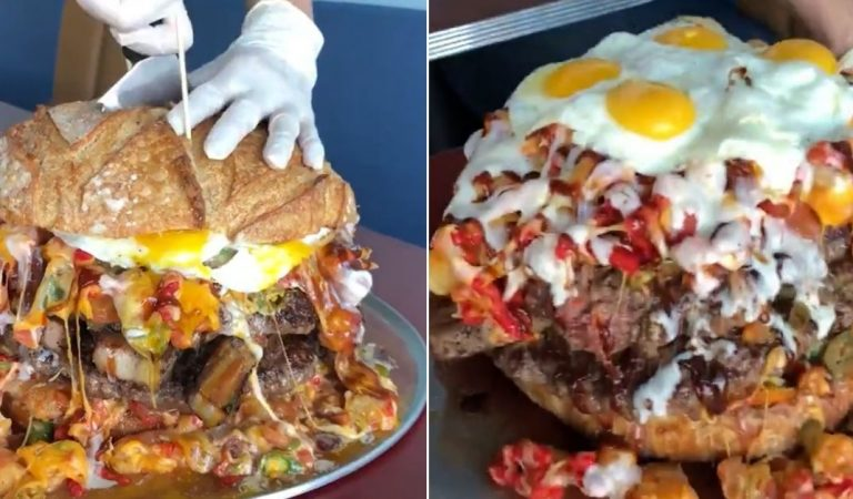 Belly of the Beast: Truffles N Bacon in Las Vegas Goes Viral After Introducing Their 13-Pound Burger