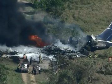 'It's a blessing today..': Horrific Fiery Charter Plane Crash Near Houston; 18 Passengers & 3 Crew Members Survives