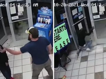 Video Shows Customer Single-Handedly Disarming Wannabe Robber at Gas Station