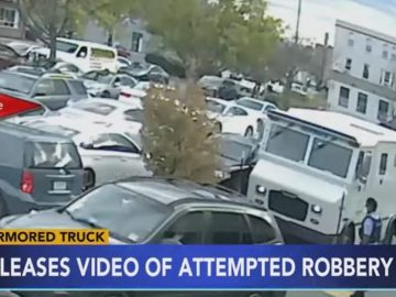Surveillance Footage Shows Armored Truck Driver Open Fire During Attempted Robbery In Philly