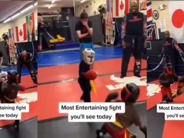 Lol: Lil Man Utilizes His Ever Faithful Spinning Punch to Take Down His Opponent