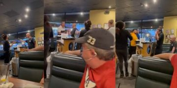 Viral Video Shows Anti-Masker Disrespect Waitress, Assault a Customer..Then Gets Laid Out On The Floor