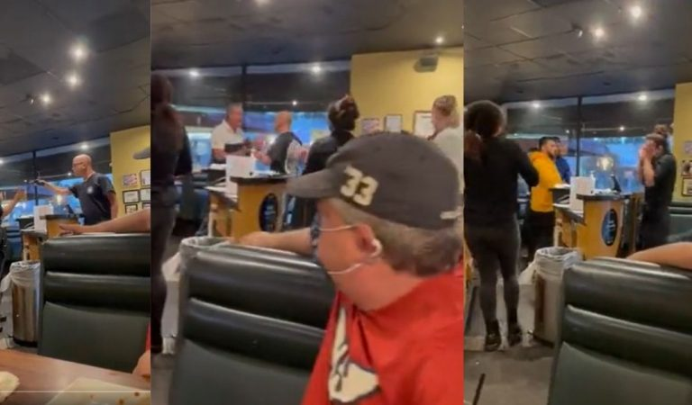 'You're gonna f** your restaurant up': Viral Video Shows Anti-Masker Disrespect Waitress, Assault a Customer..Then Gets Laid Out On The Floor