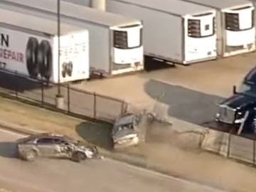 Helicopter Cam Captures Car Chase In Dallas