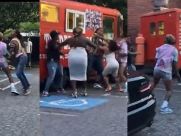 Cellphone Video Captures Atlanta Dream Players in All Out Brawl Outside Food Truck